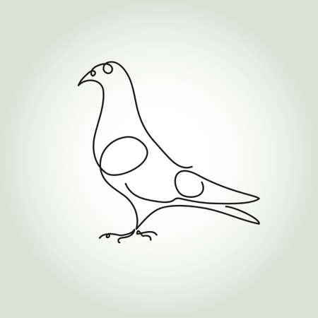 minimal: Dove line in minimal style