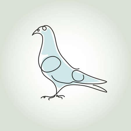 puree: Dove line in minimal style
