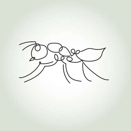 Ant line in minimal style vector