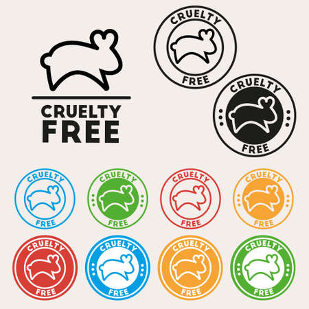 cruelty: Cruelty free sign icon. Not tested symbol. Round colorful