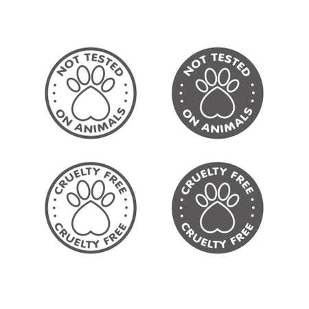 Cruauté libre - non testé sur les animaux signe symbole icône