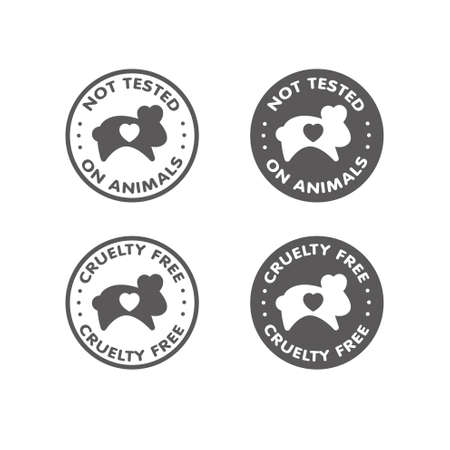 animal cruelty: Cruelty free - not tested on animals sign icon symbol