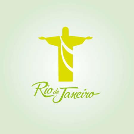 olimpic: Rio de Janeiro Brazil sign poster icon vector