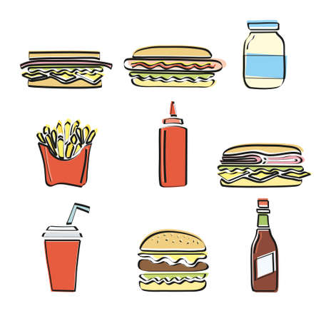 soda: Fast food vector set