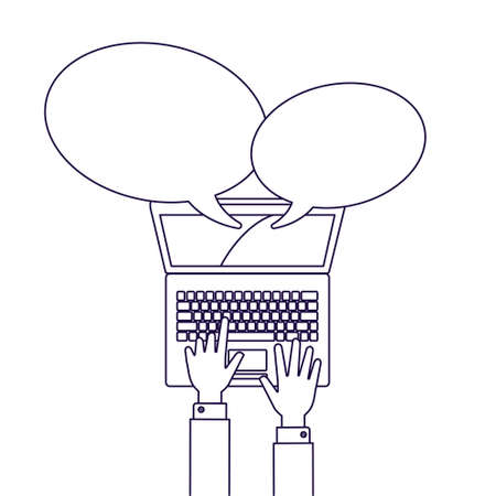 computer network: Computer network illustration line style