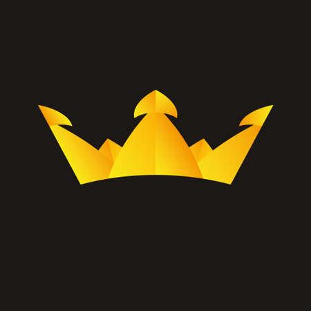 Crown king icon logo symbol vector Illustration