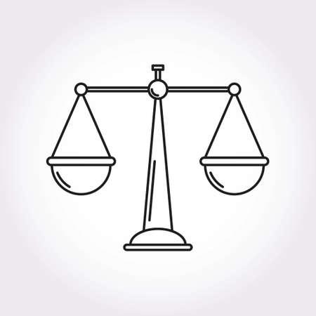 femida: Libra Balance Justice Modern style icon symbol Illustration
