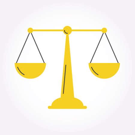 themis: Libra Balance Justice Modern style icon symbol Illustration