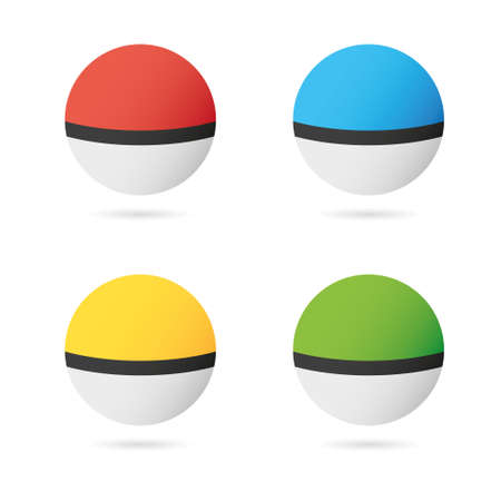 poke: Game Balls Set to Play In The Team. vector Illustration Illustration