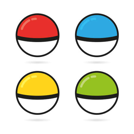 Game Balls Set to Play In The Team. vector Illustration Illustration