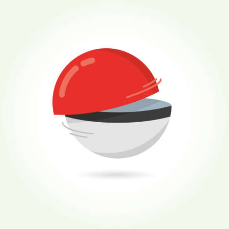 poke: Red Ball Game to Play In The Team Vector Illustration Illustration