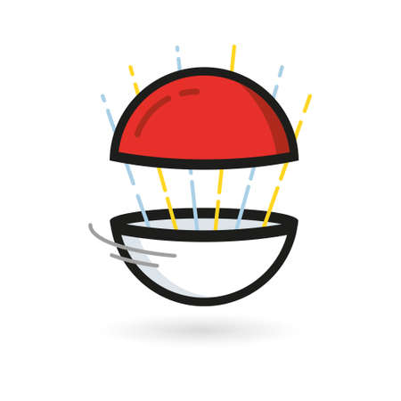 red ball: Red Ball Game to Play In The Team Vector Illustration Illustration