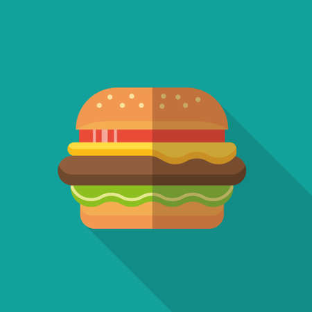 hamburger vector sign icon
