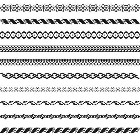 Old border designs set Vector Illustration