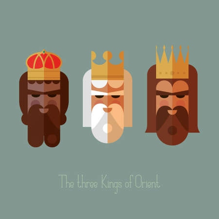 melchior: The three Kings of Orient wisemen vector illustration