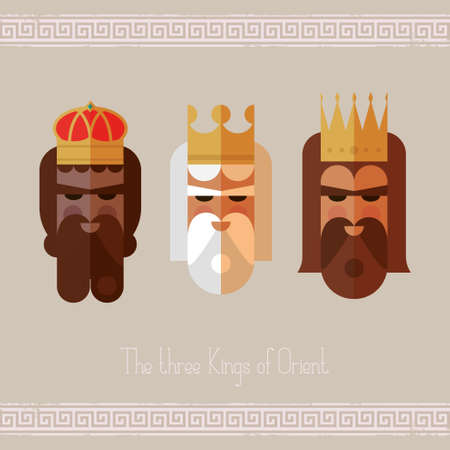 balthasar: The three Kings of Orient wise men illustration