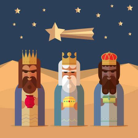 De drie koningen van Orient wijzen illustratie