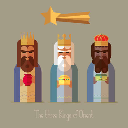 melchior: The three Kings of Orient wise men illustration