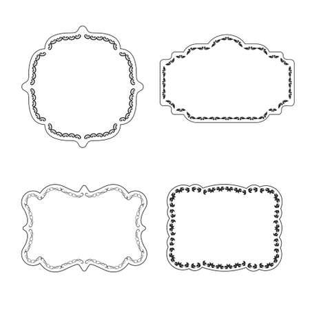Marco de la vendimia del vector etiquetas de decoración ornamental en septiembre Ilustración de vector