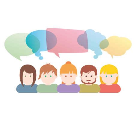 suggestion: Group of people communication illustration
