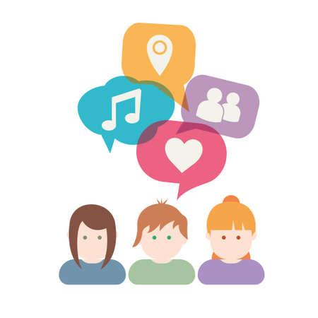 Group of people communication illustration