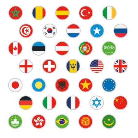flags of the world: Flags of world Vector icons set