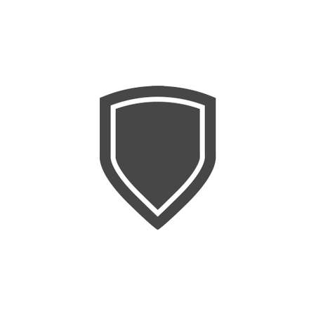 honor guard: Shield Icon in trendy flat style isolated on gray. Vector illustration.