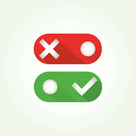 toggle switch: Toggle switch icon, on, off position