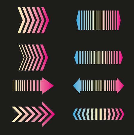 crosscountry: Arrows set linear design elements Illustration