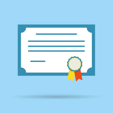 deed: vector illustration icon degree certificate