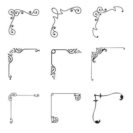 Set of 9 decorative corners