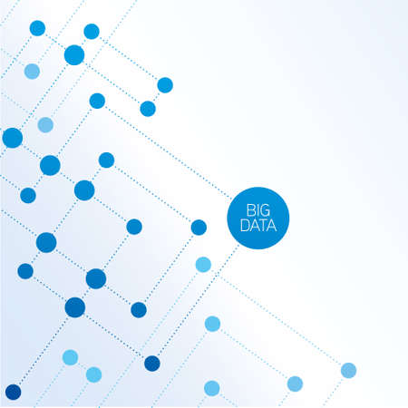 digitally generated image: Big data abstract molecule illustration Illustration