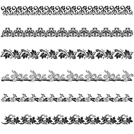 Old border designs vector set Vector Illustration