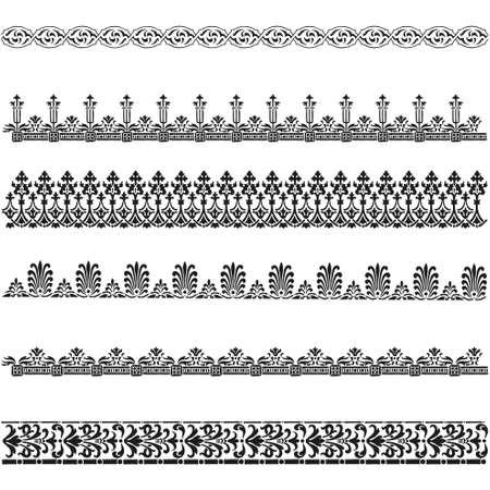 Old border designs vector set
