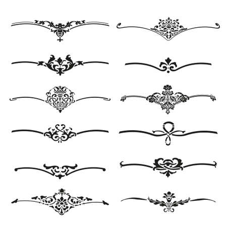 calligraphic: Vector set of calligraphic design elements and page decor