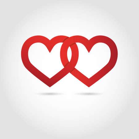 Herz-Vektor-Symbol verknüpft