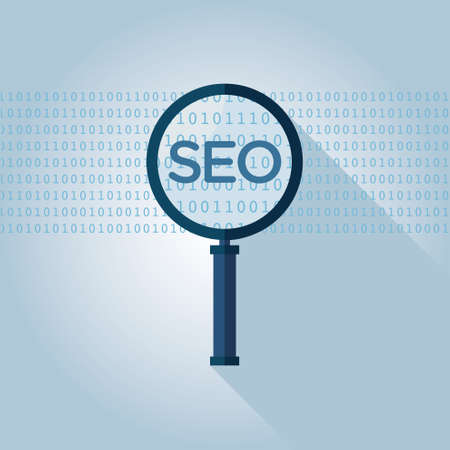 metasearch: SEO (search engine optimization) magnifying glass