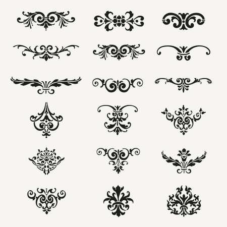 calligraphic design: Vintage Decorative Calligraphic Design Elements Vector Illustration Illustration