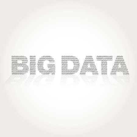 acquire: Big Data with texture binary vector illustration