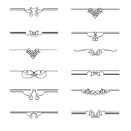 Vecteur - Calligraphic page diviseurs Vecteurs