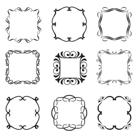 foliate: Calligraphic frames set