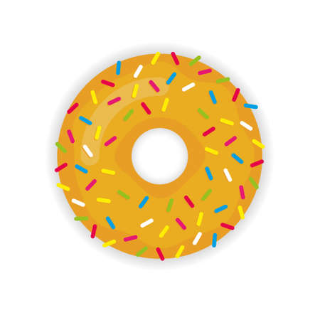 Donut vector icon modern flat illustration