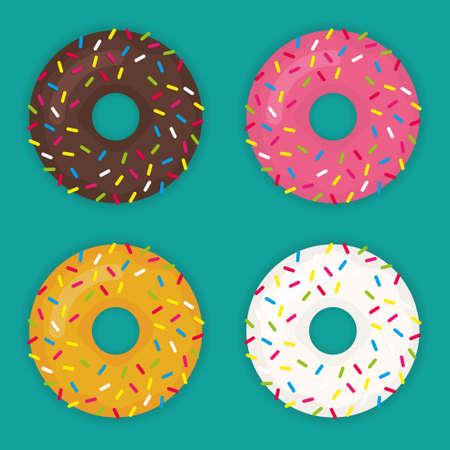 Donuts set vector icon