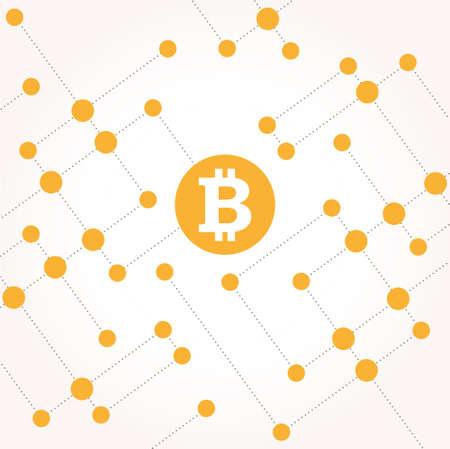 Bitcoin money illustration with circles vector