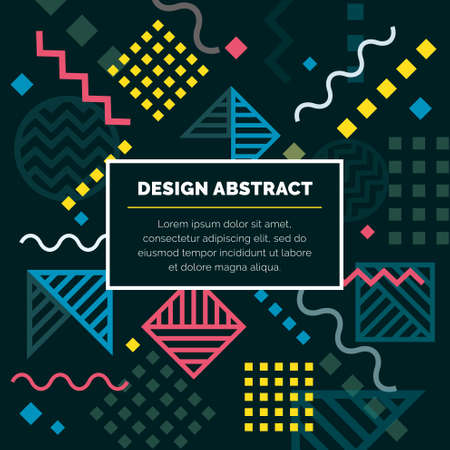 Vector of design abstract geometric pattern and background