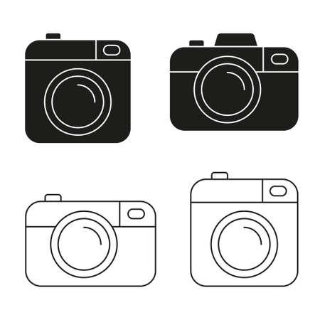 Camera vector icon minimalistic flat design.