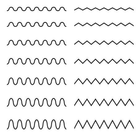 Set of seamless lines. Graphic design elements. Illustration