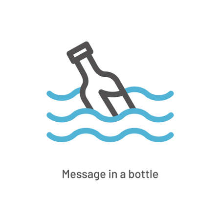 Message in a bottle icon vector illustration
