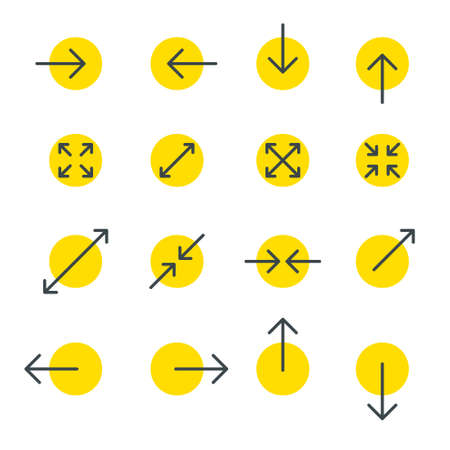 Arrow line collection. Touch screen gestures icons set