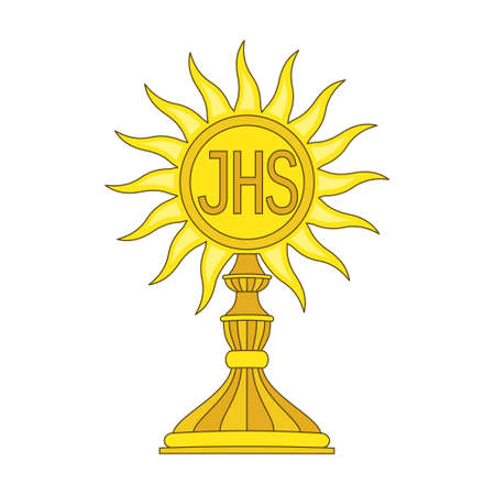 Illustration of a communion depicting traditional Christian symbol